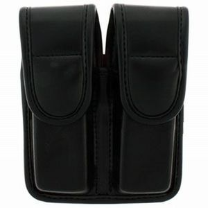 7902- Double Mag Pouch- Plain Black- Double Stack .40